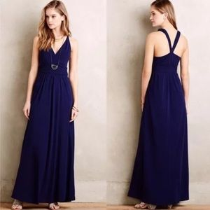 Anthropology Maeve Blue Yuma maxi dress size 2